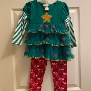 3/$15 or 5/$25🎁Christmas Two Piece Toddler Outfit